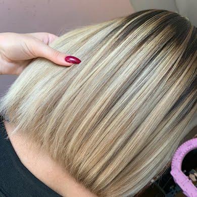 Складна техніка фарбування - ДО ПЛЕЧЕЙ (до 30 см) густе волосся
