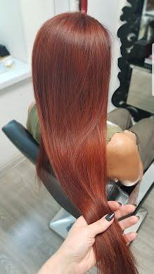 Окрашивание всей длины волос