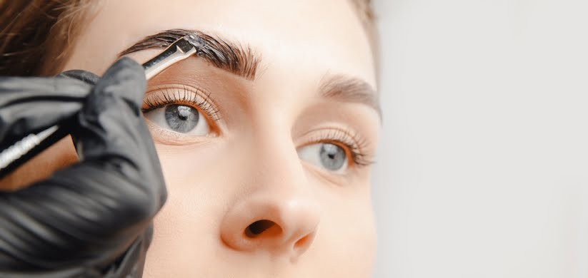 Brow tidy and tint