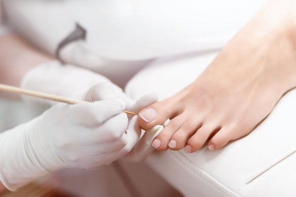 Pedicure with gel coating